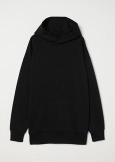 H&M H & M - Oversized Hooded Sweatshirt - Black