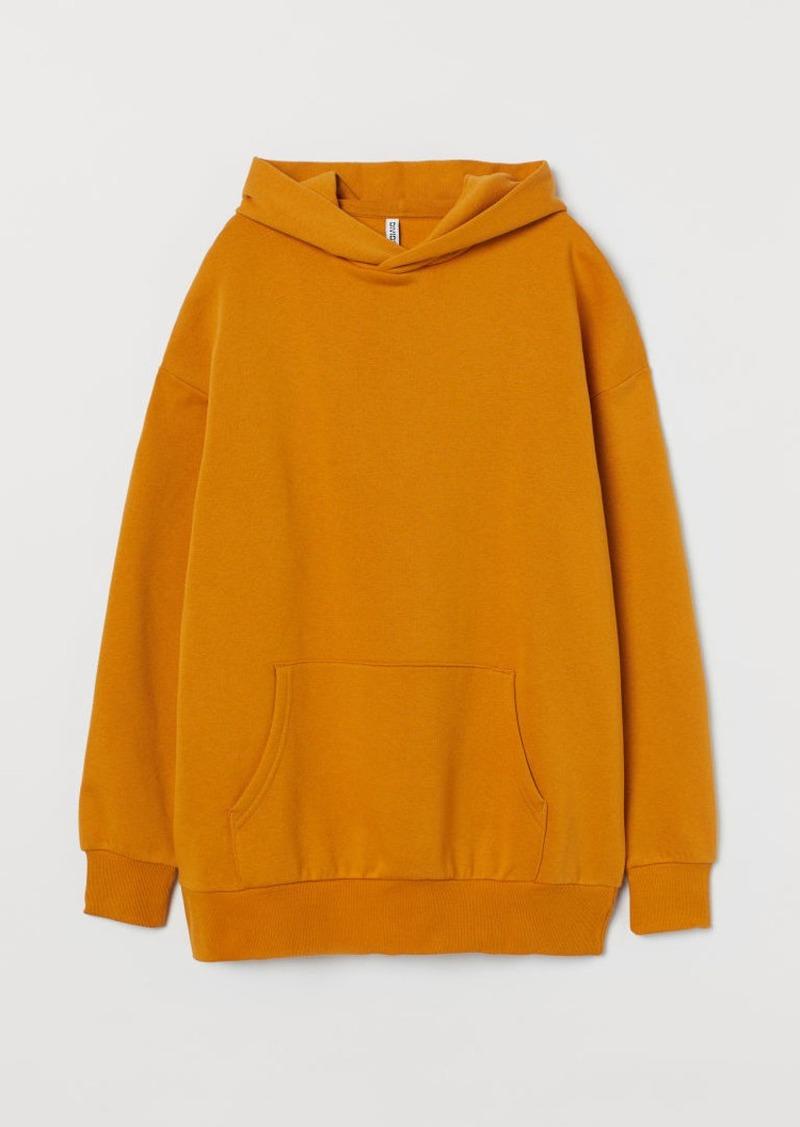 H&M H & M - Oversized Hoodie - Yellow