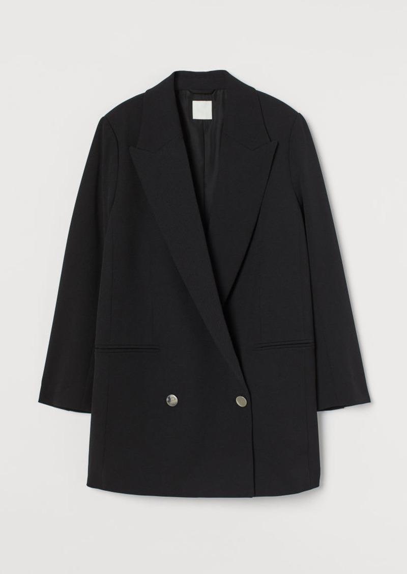 H & M - Oversized Jacket - Black