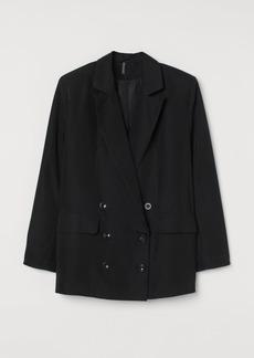 H&M H & M - Oversized Jacket - Black