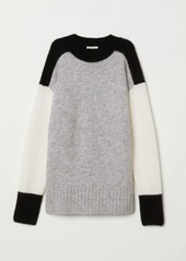 Hm h  m   oversized mohair blend sweater   black abv9a991af0 a