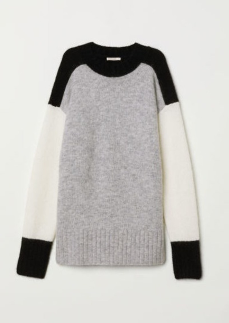 H&M H & M - Oversized Mohair-blend Sweater - Black