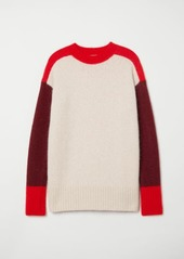 H&M H & M - Oversized Mohair-blend Sweater - Red