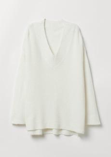 H&M H & M - Oversized Sweater - White