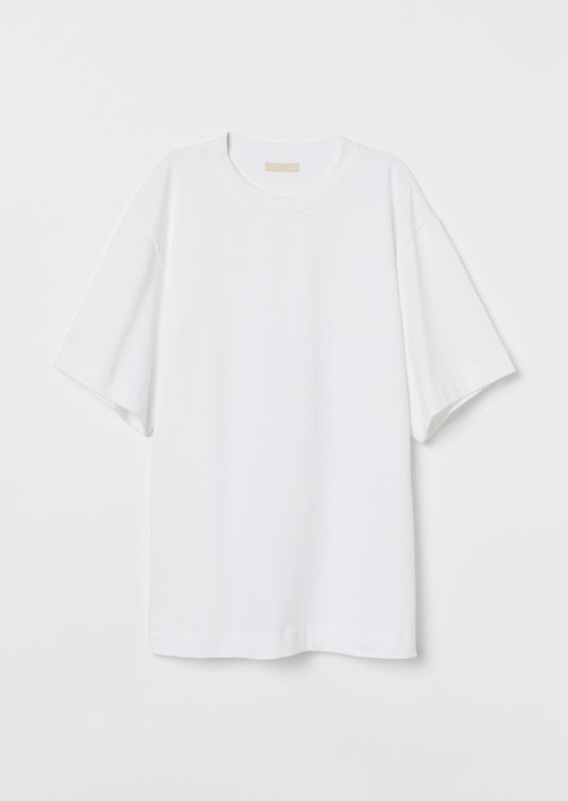 H & M - Oversized T-shirt - White