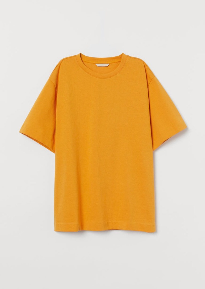 H&M H & M - Oversized T-shirt - Yellow