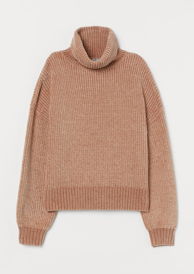 H&M H & M - Oversized Turtleneck Sweater - Beige