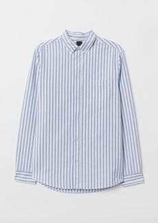 H&M H & M - Regular Fit Oxford Shirt - Blue