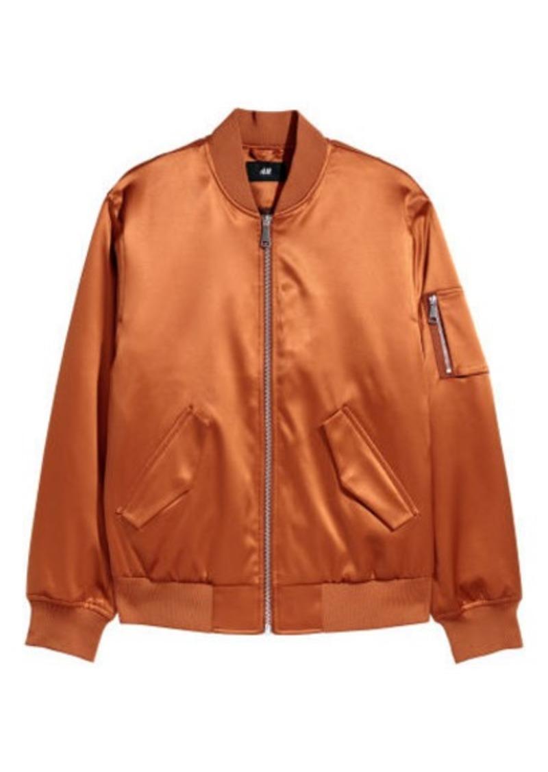 sale online for sale new lifestyle H & M - Padded Bomber Jacket - Orange
