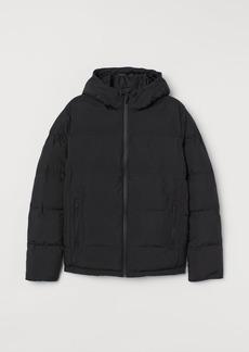 H&M H & M - Padded Hooded Jacket - Black