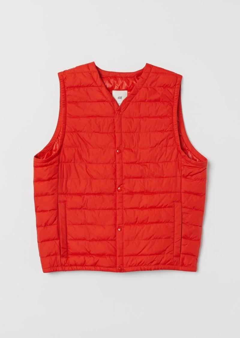 H&M H & M - Padded Lightweight Vest - Orange