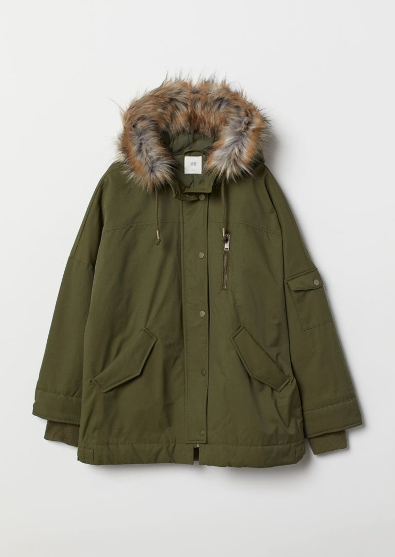 H&M H & M - Padded Parka - Green