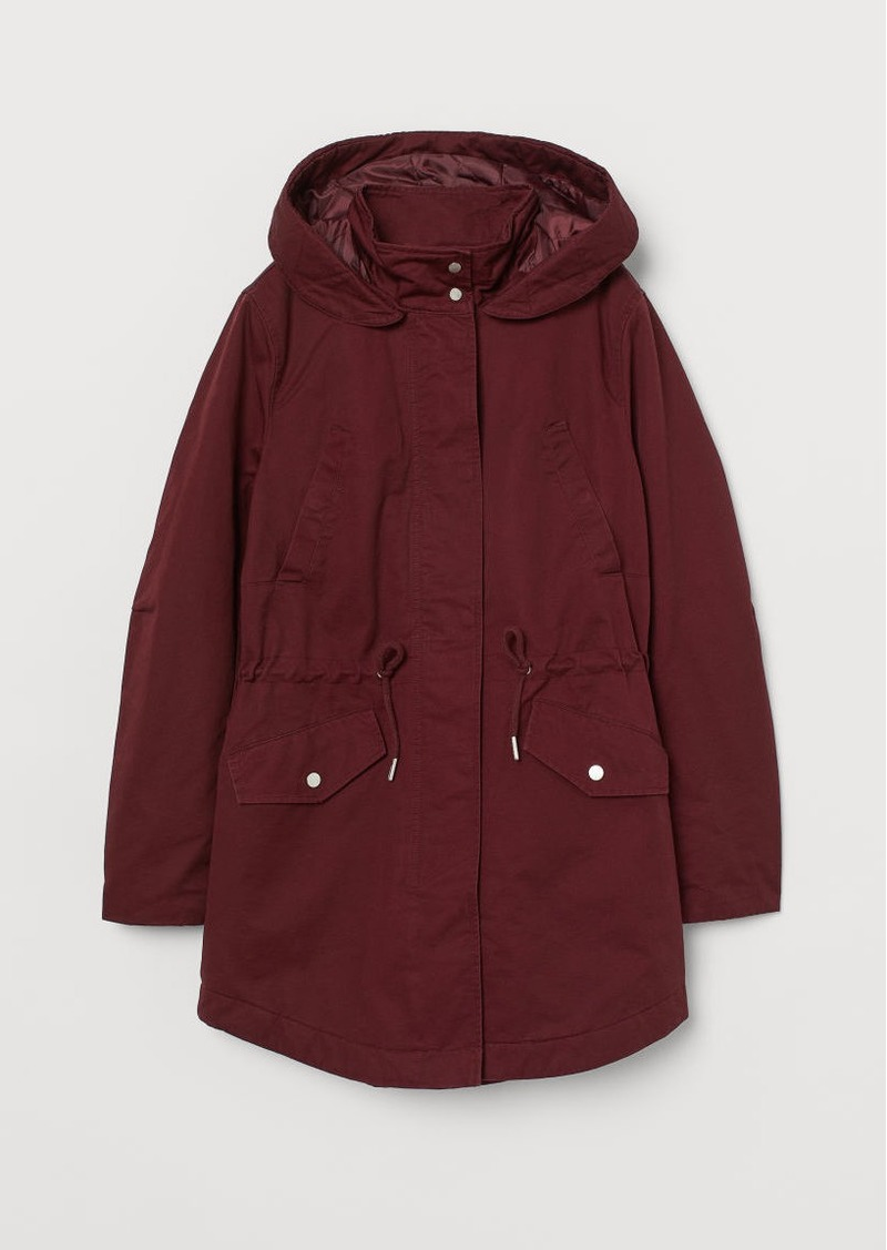 H&M H & M - Padded Parka - Red