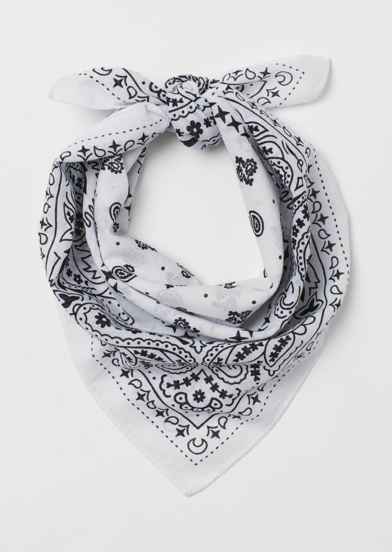 H&M H & M - Paisley-patterned Scarf - White