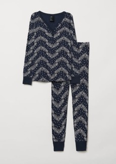 H&M H & M - Pajama Top and Leggings - Blue