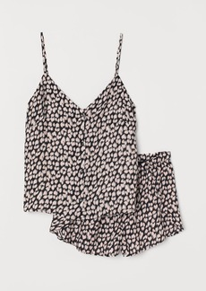 H&M H & M - Pajama Top and Shorts - Black