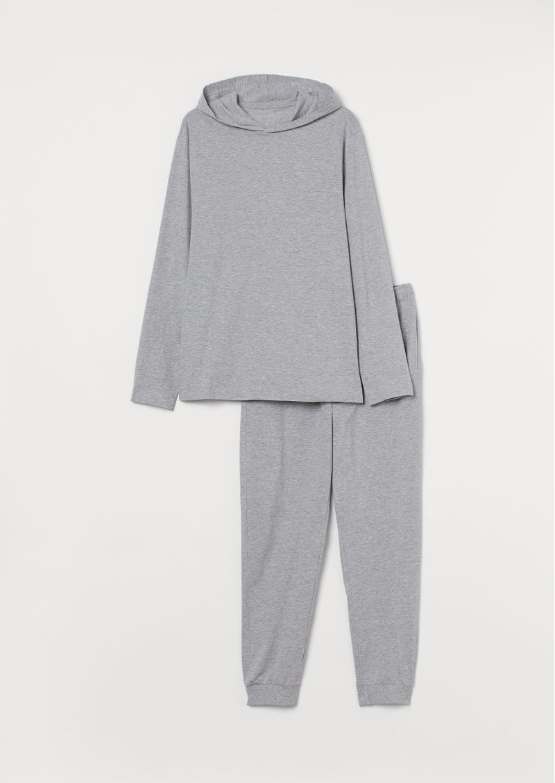 H&M H & M - Pajama Hoodie and Pants - Gray