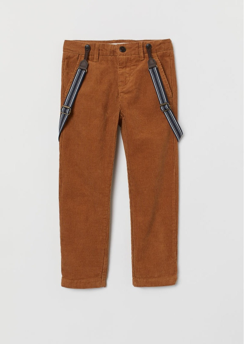 H&M H & M - Pants with Suspenders - Beige