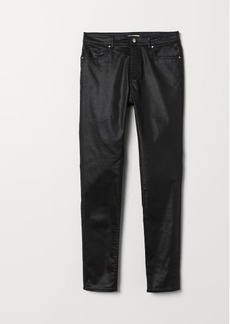 H&M H & M - Skinny Fit Pants - Black