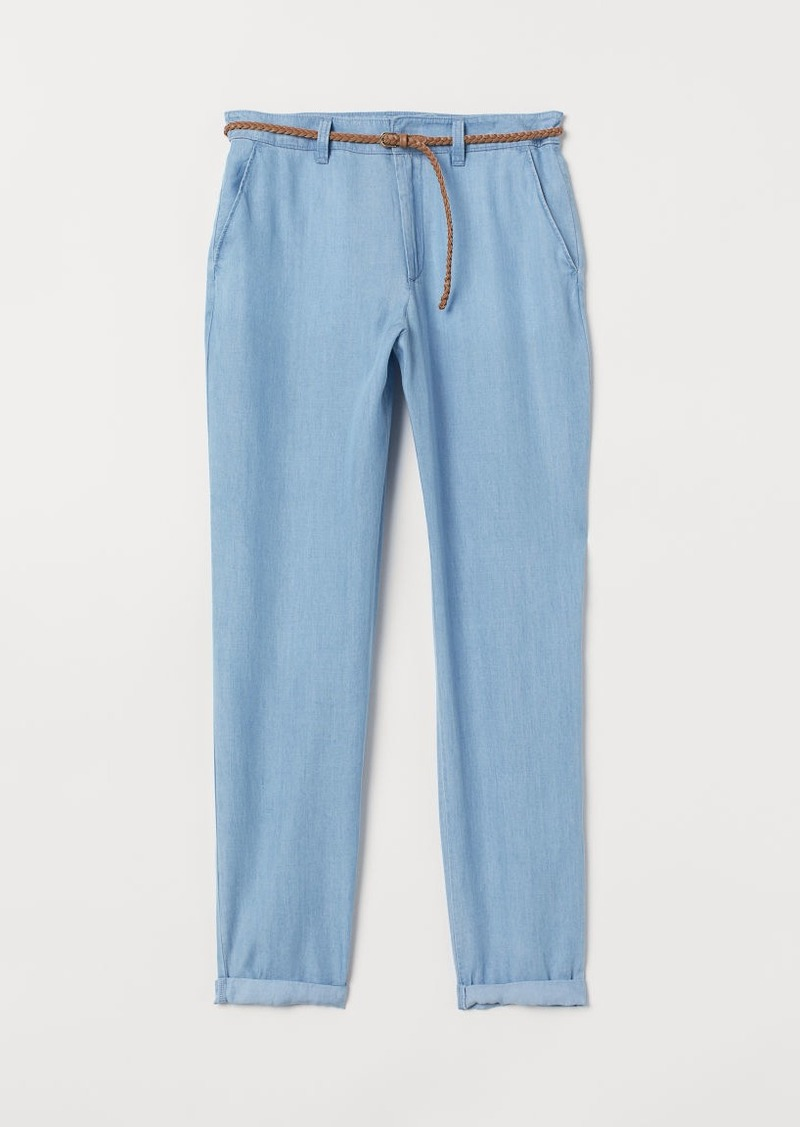 H&M H & M - Pants with Belt - Blue