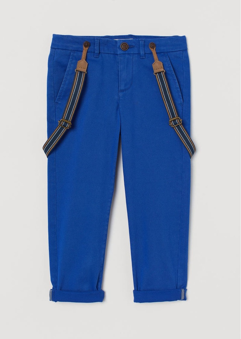 H&M H & M - Pants with Suspenders - Blue