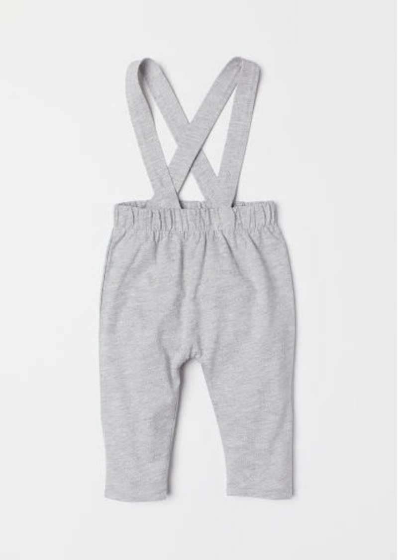 H&M H & M - Pants with Suspenders - Gray