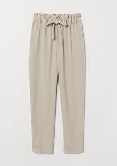 H&M H & M - Paper-bag Pants - Beige