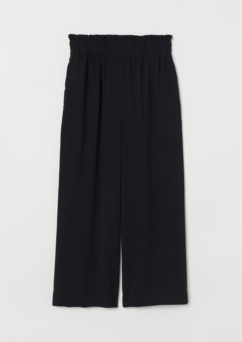 H&M H & M - Paper-bag Pants - Black