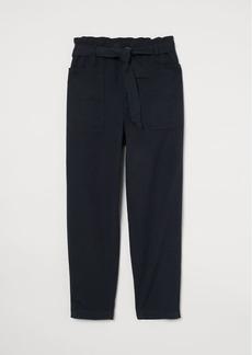 H&M H & M - Paper-bag Pants - Black