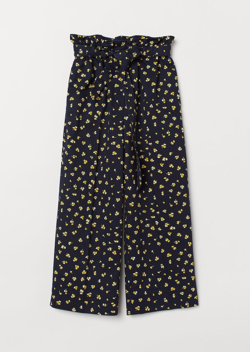 H&M H & M - Paper-bag Pants - Blue
