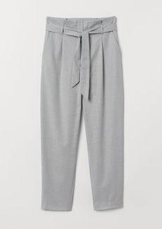 H&M H & M - Paper-bag Pants - Gray