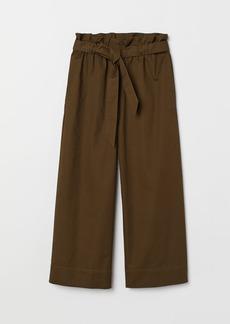 H&M H & M - Paper-bag Pants - Green
