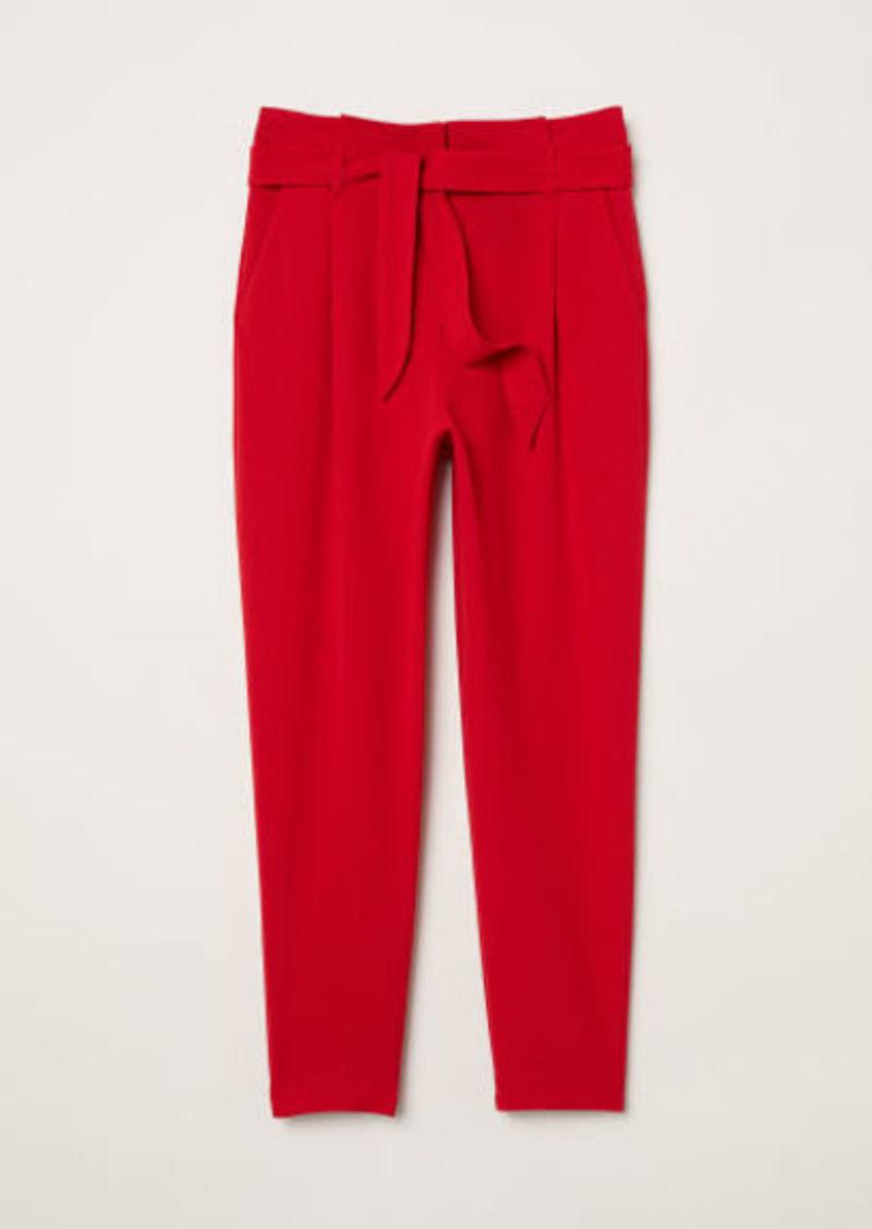 hot-selling latest wide varieties marketable H & M - Paper-bag Pants - Red