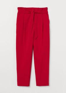 H&M H & M - Paper-bag Pants - Red