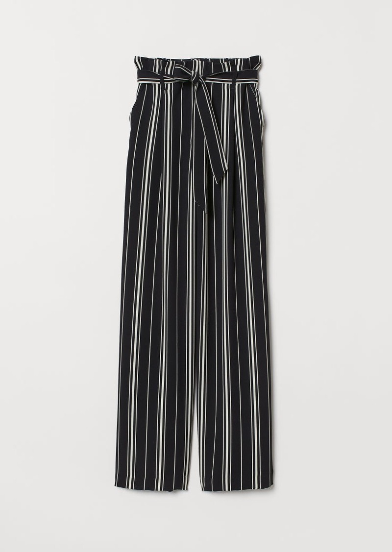 H&M H & M - Paper-bag Pants - White