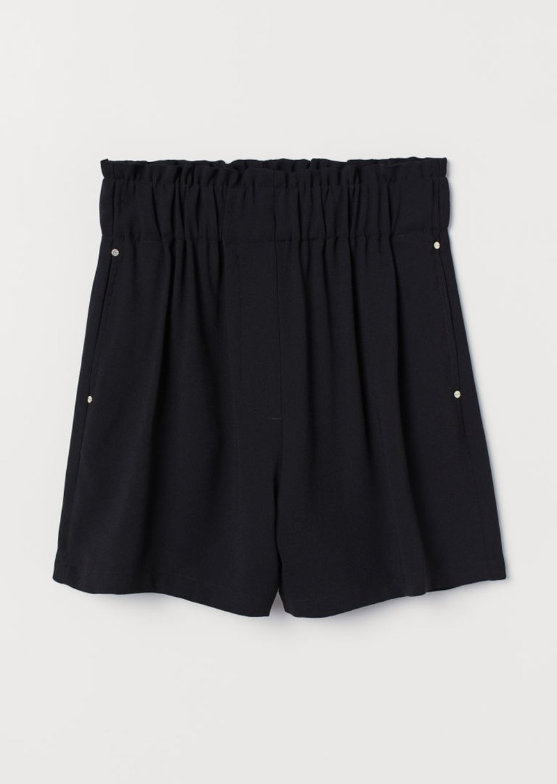 H&M H & M - Paper-bag Shorts - Black