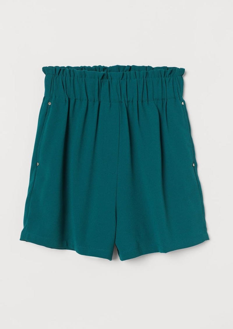 H&M H & M - Paper-bag Shorts - Green