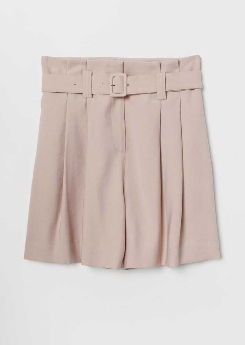 H&M H & M - Paper-bag Shorts - Pink