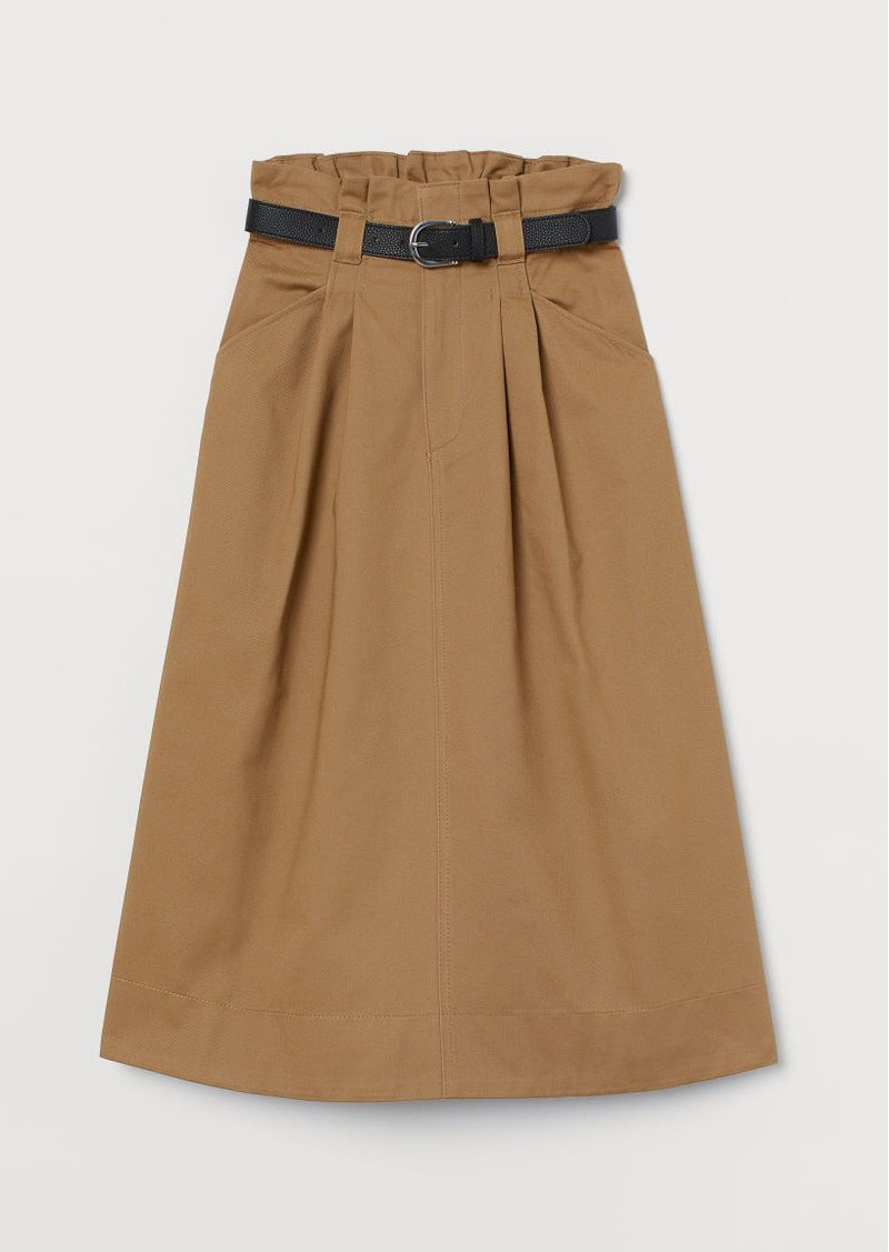 H&M H & M - Paper-bag Skirt - Beige