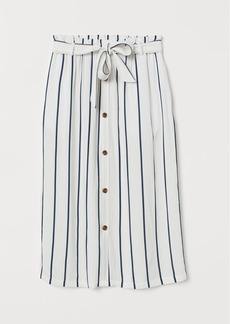H&M H & M - Paper-bag Skirt - Blue