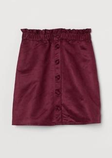 H&M H & M - Paper Bag Skirt - Red