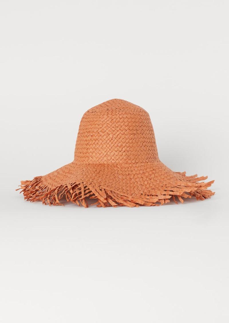 H&M H & M - Paper Straw Sun Hat - Orange