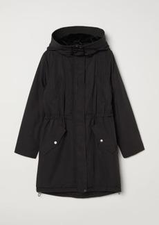 H&M H & M - Parka with Hood - Black