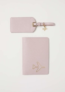 H&M H & M - Passport Cover and Luggage Tag - Dusty rose - Women