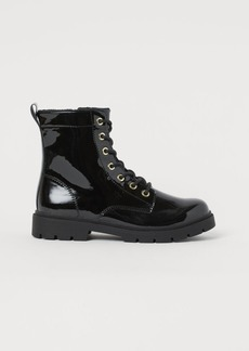 H&M H & M - Patent Boots - Black