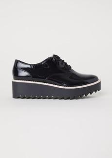 H&M H & M - Patent Platform Shoes - Black