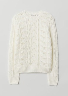 H&M H & M - Pattern-knit Sweater - White