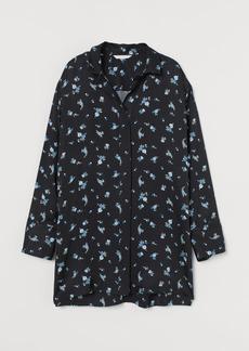 H&M H & M - Patterned Blouse - Black