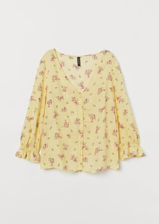 H&M H & M - Patterned Blouse - Yellow