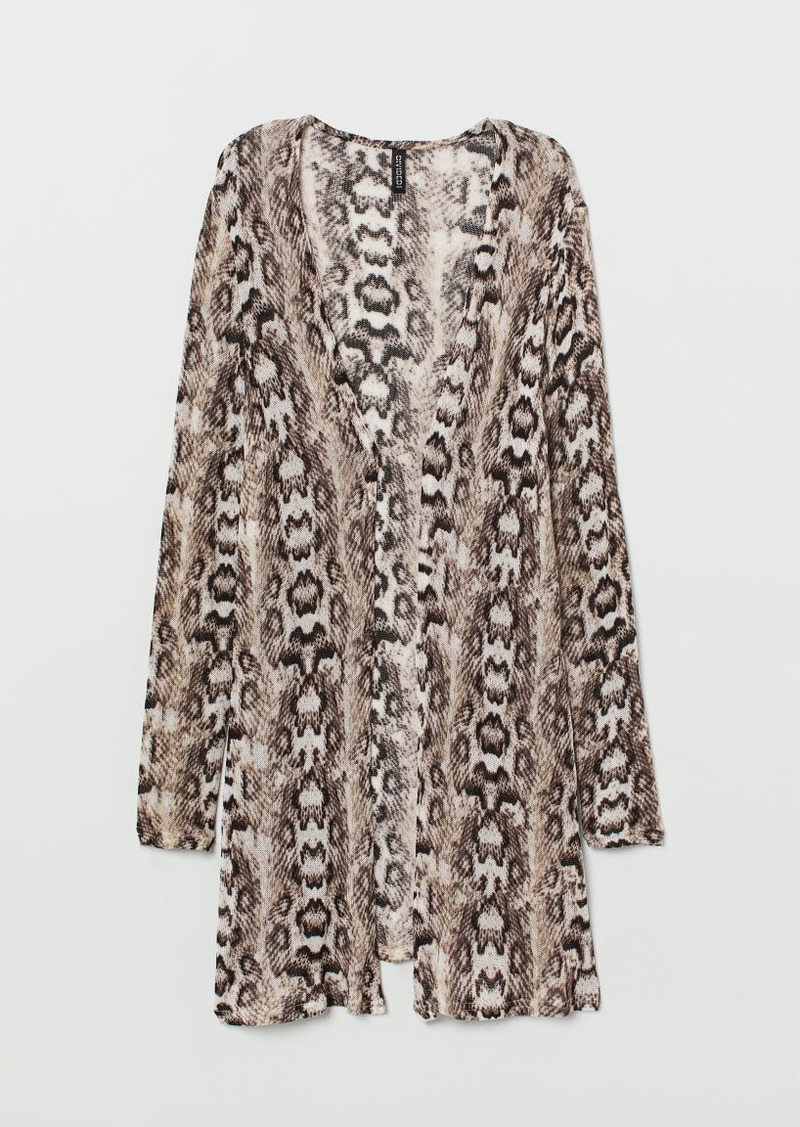 H&M H & M - Patterned Cardigan - Beige